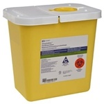 ChemoSafety Disposal Container with Hinged Lid