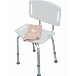 Blow-Molded Bath Seat with Backrest