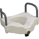 Hi-Riser Locking Raised Toilet Seat with Arms