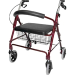 Lightweight Extra-Wide Heavy-Duty Aluminum Rollator