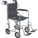 Standard Steel Transport Chair with Hand Brakes