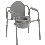 Drive Medical Folding Bedside Commode Seat