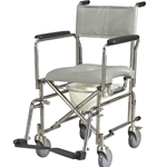 "Drive Medical Rehab Shower Chair Commode with 5"" Wheels"
