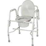 Drive Medical Steel Drop Arm Commode with Padded Arms