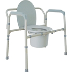 McKesson Heavy Duty Bariatric Folding Commode