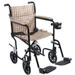 Drive Medical Flyweight Aluminum Transport Wheelchair