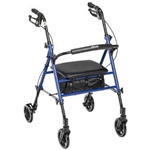 Drive Medical Universal Seat Height Aluminum Rollator
