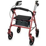 Drive Medical Durable 4-Wheel Rollator with Fold Up Removable Back