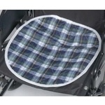 CareFor Deluxe Green Plaid Reusable Chair Pad