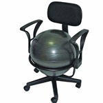 Cando Exercise Ball Chair with Arms