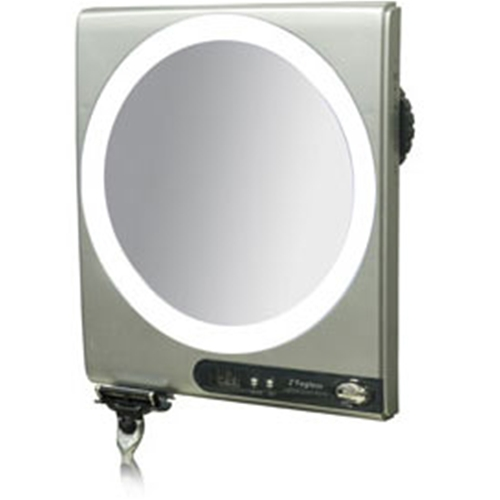 Zadro Led Surround Light Fogless Suction Cup Shower Mirror