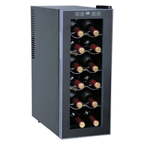 Sunpentown 12 Bottle Thermoelectric Slim Wine Cooler At
