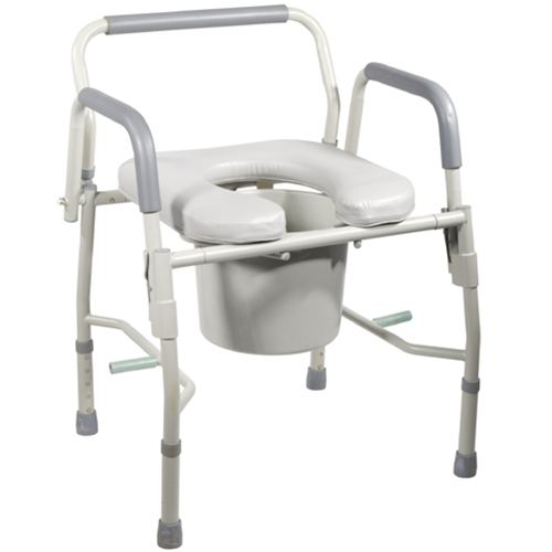 Drive Medical Drop Arm Commode with Padded Seat & Arms