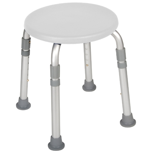 McKesson Adjustable Height Bath Stool
