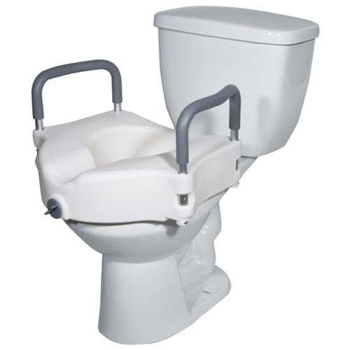 Mckesson Raised Toilet Seat With Removable Padded Arms At