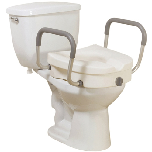 Drive Medical Elevated Toilet Seat With Removable Arms At