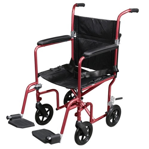 Drive Medical Transport Wheelchair with Removable Wheels