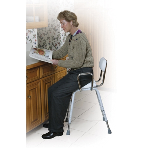 Drive Medical All Purpose Stool with Adjustable Arms