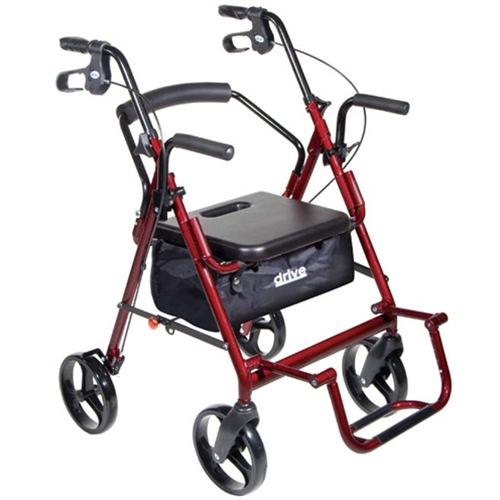 Transport Chair Replacement Wheels Drive Medical Duet Transport Wheelchair Rollator Walker at HealthyKin ...
