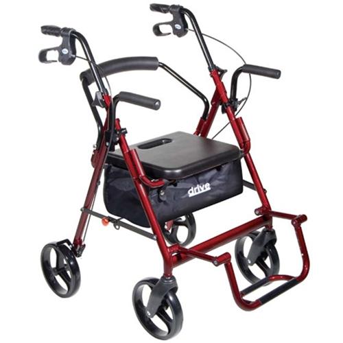 Drive Medical Duet Transport Wheelchair Rollator Walker At