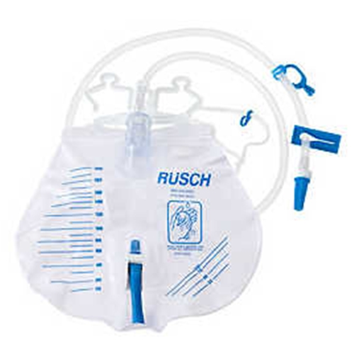 Rusch Bedside Urinary Drainage Bag with Anti-Reflux Valve
