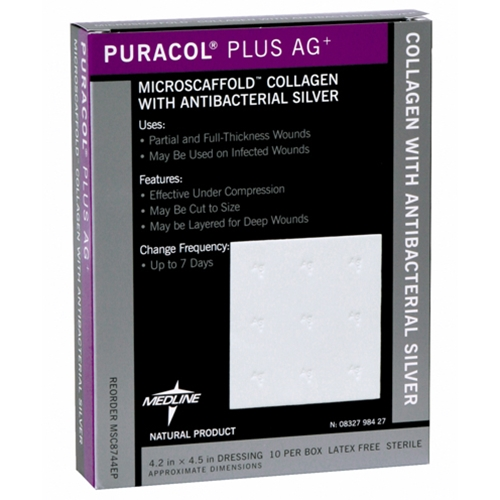 Puracol Plus AG Collagen Wound Dressing with Silver