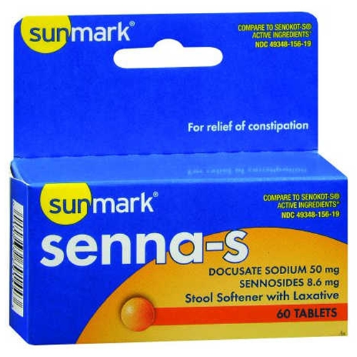 Sunmark Stool Softener Plus Stimulant Laxative At