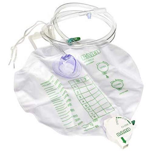 Bard Drainage Bag with Bard Safety-Flow Outlet Device
