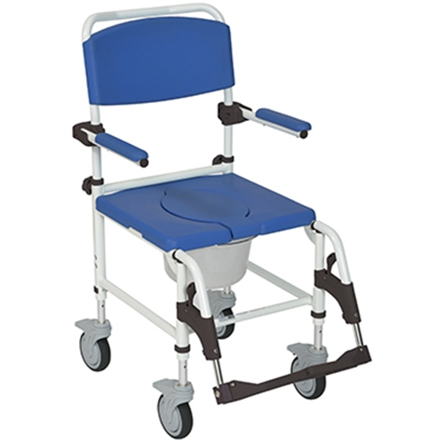 Drive Medical Aluminum Rehab Shower Commode Chair At