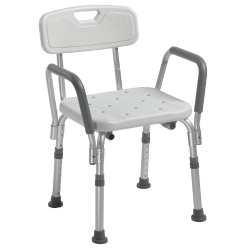 Drive Medical Shower Chair With Back And Removable Padded
