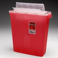 SharpSafety Sharps Disposal Container with Always-Open Lid