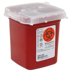 SharpSafety Phlebotomy Sharps Disposal Container