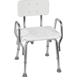 Adjustable Shower Bath Chair Seat with Back