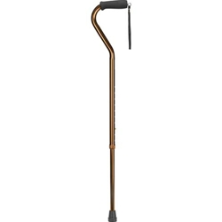 Deluxe Adjustable Aluminum Cane, Offset Foam Grip