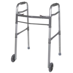 Drive Medical Deluxe Two Button Folding Universal Walker