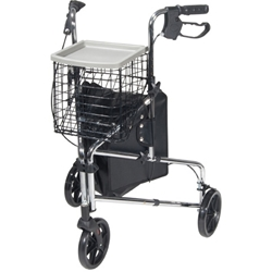 Deluxe 3-Wheel Steel Rollator