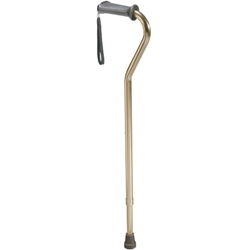 Drive Medical Aluminum Rehab Ortho K Grip Offset Handle Cane