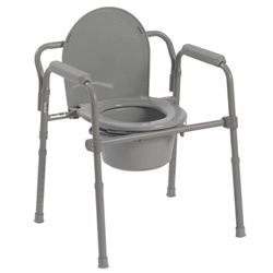 McKesson Folding Bedside Commode