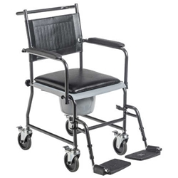 Drive Medical Portable Wheeled Drop Arm Commode