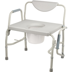 McKesson Oversized Heavy Duty Bariatric Drop Arm Commode
