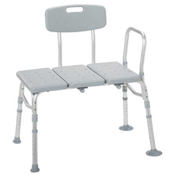 McKesson Transfer Bench with Adjustable Backrest