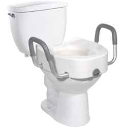 Drive Medical Raised Toilet Seat with Arms