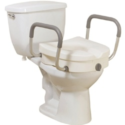 Drive Medical Elevated Toilet Seat with Removable Arms