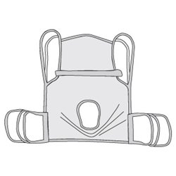 Drive Medical One Piece Commode Sling with Commode Cutout