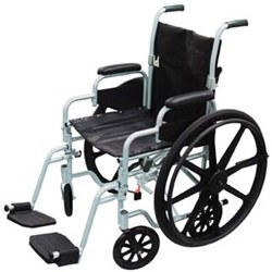 Drive Medical Poly Fly Lightweight Transport Chair Wheelchair