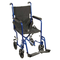 McKesson Deluxe Aluminum Transport Wheelchair