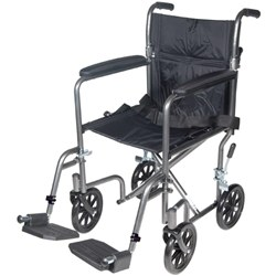 McKesson Lightweight Steel Transport Wheelchair