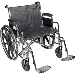 McKesson Dual Axle Heavy Duty Wheelchair