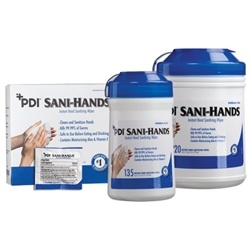 PDI Sani Hands Instant Hand Sanitizing Wipes