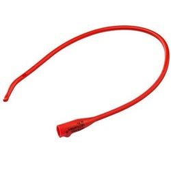 Dover Urethral Red Rubber Coude Catheter